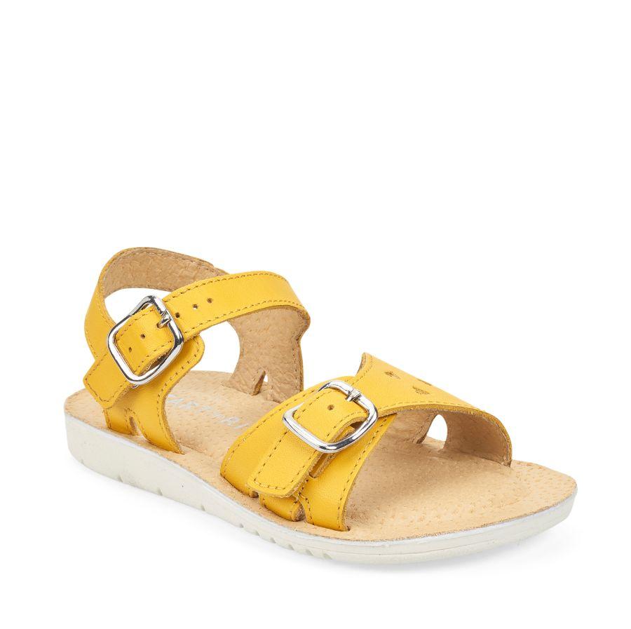 Enchant Yellow Leather Sandal