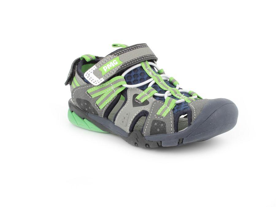 Primigi 7460022 Grey/Green Leather Beach/Walking Sandal