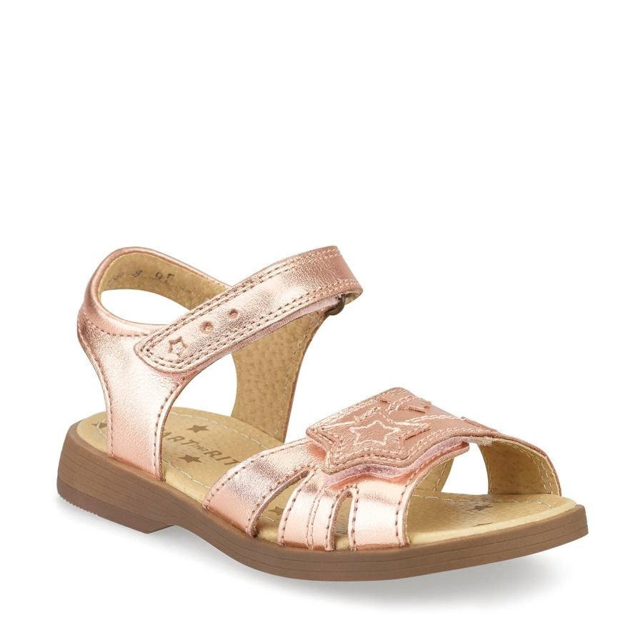 Twinkle Rose Gold Leather Sandal
