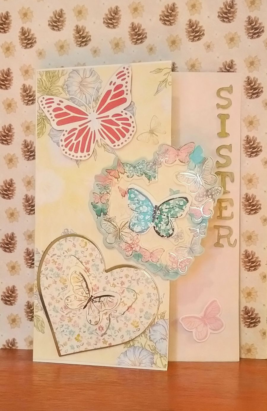 Butterflies and Hearts Card