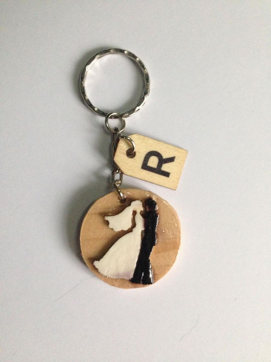 Bride and Groom Keyring