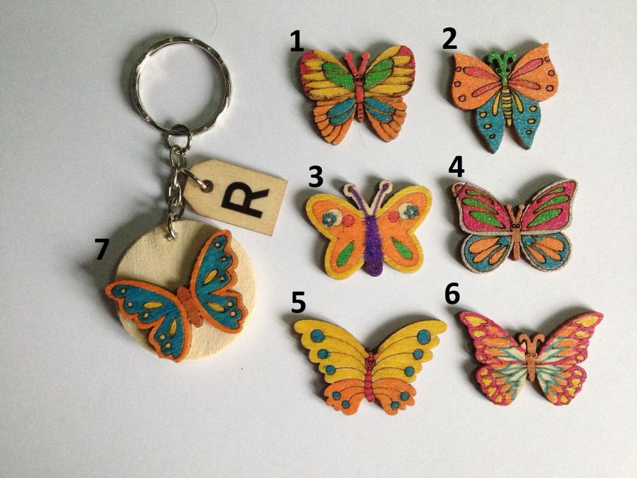 Car and Butterfly Keyring