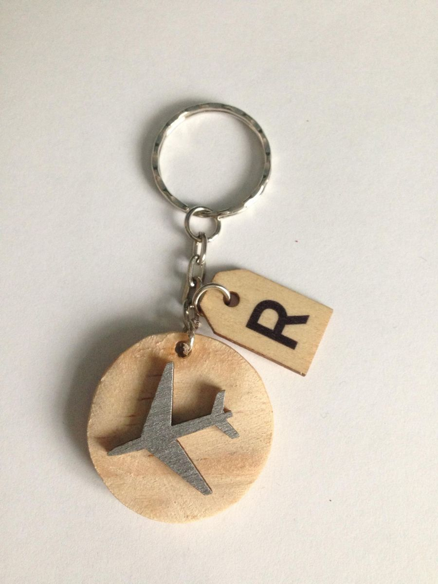 Aeroplane and Butterfly Keyring
