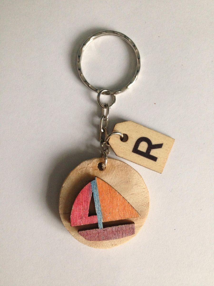 Boat and Butterfly Keyring