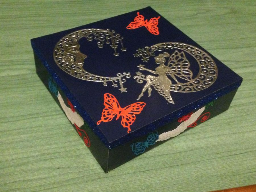 Decorated Square Gift Box