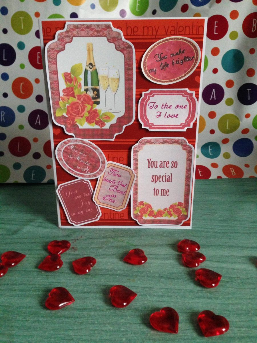 Champagne Valentines Day Card