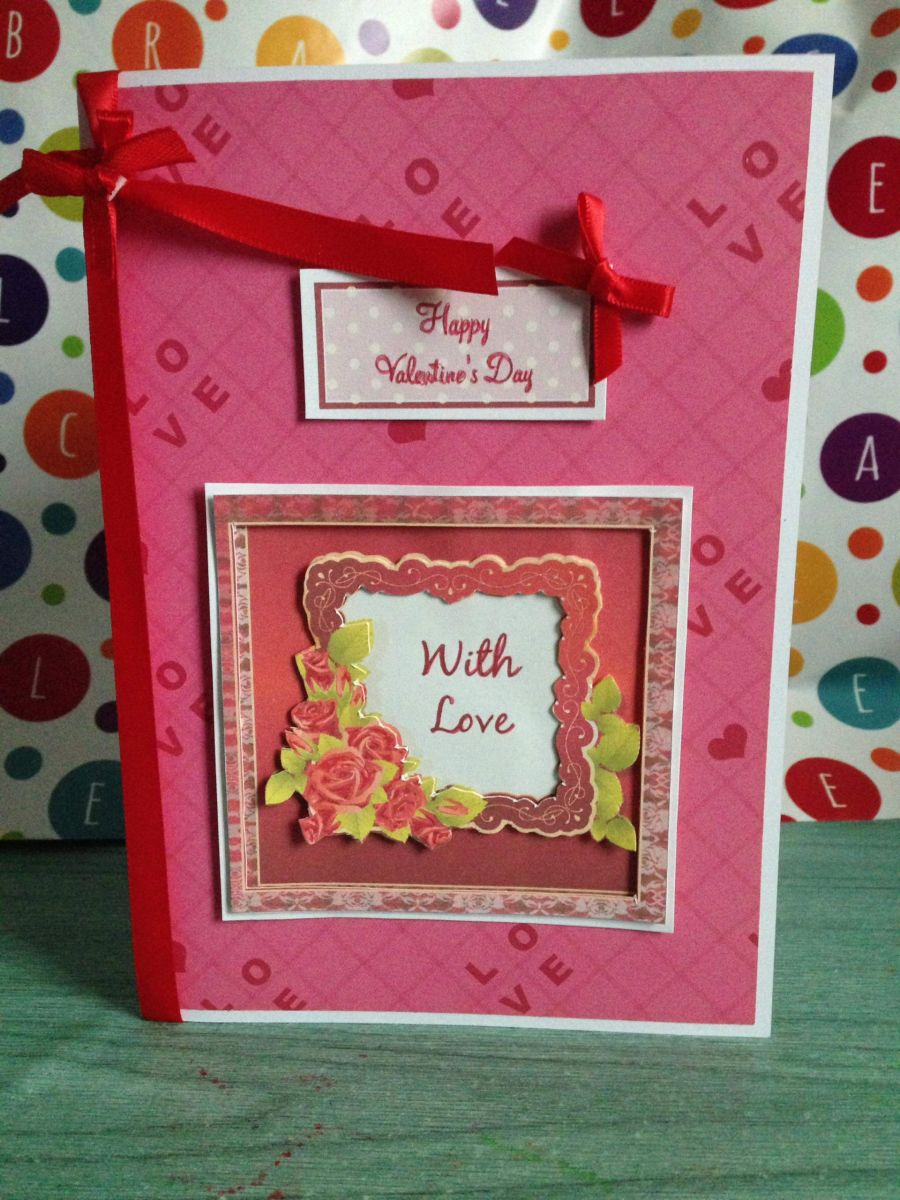 With Love Valentines Card