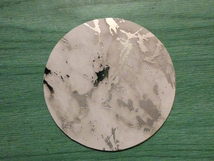 Marble Effect Coaster 10cm
