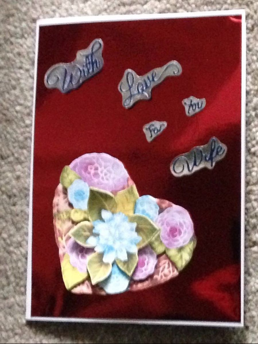 With Love Wife Card