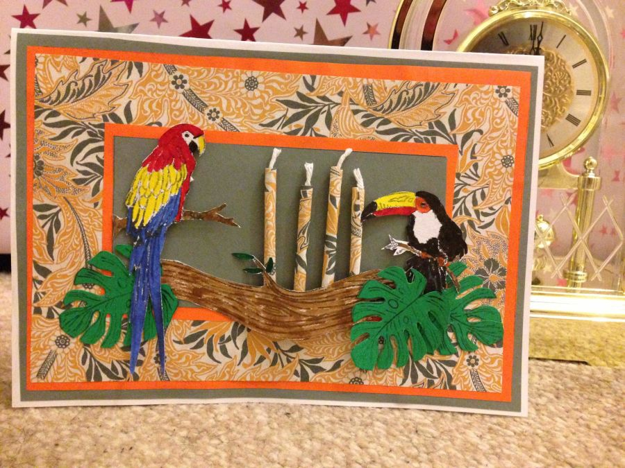 Parrot Candles Card