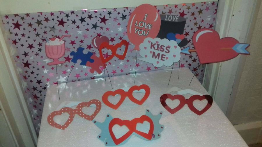Valentines Photo Booth Props