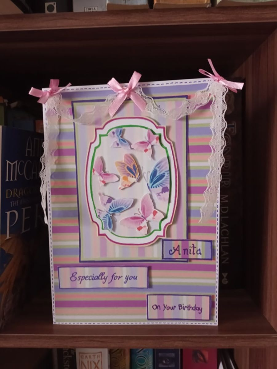 Butterfly and Ribbon Card