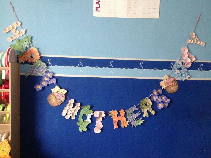Happy Mothers Day Decoupage Banner