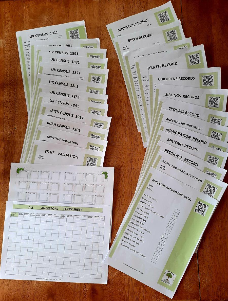 Genealogy Stationary - Starter package  DOWNLOAD
