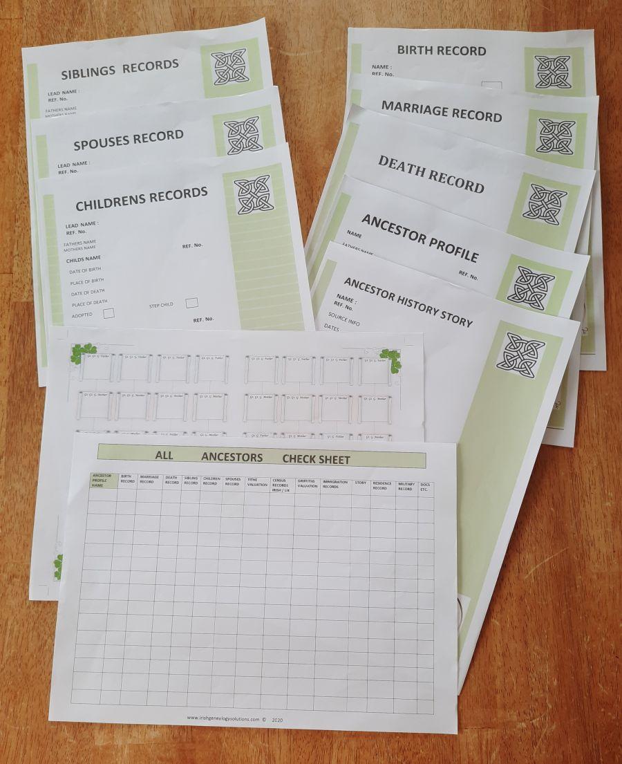 Genealogy Stationary - Basic Package