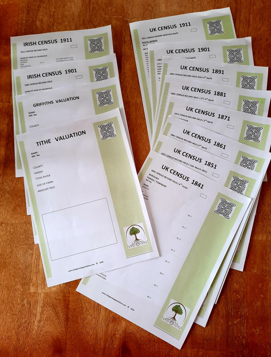 Genealogy Stationery - Census Package