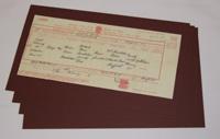 Insert Card - Burgundy: Long Certificate