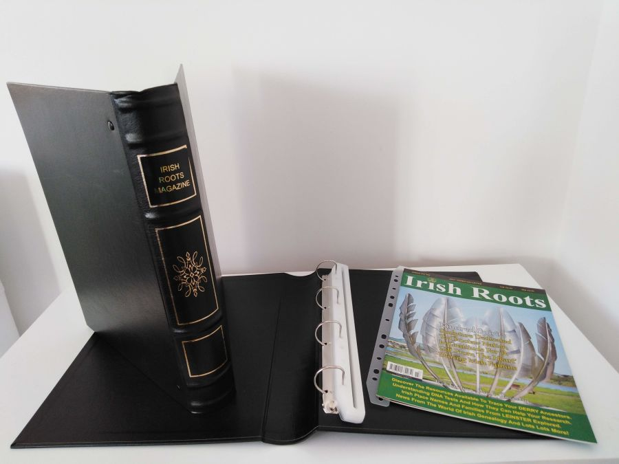 IRISH ROOTS MAGAZINE BINDER inc. 16 Holders