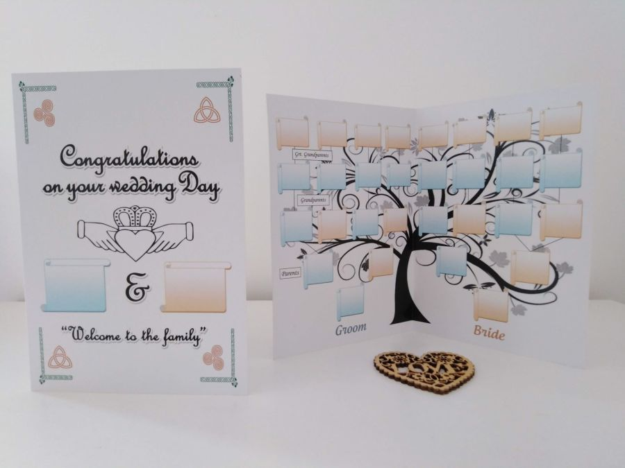Family tree Chart Wedding Day Card