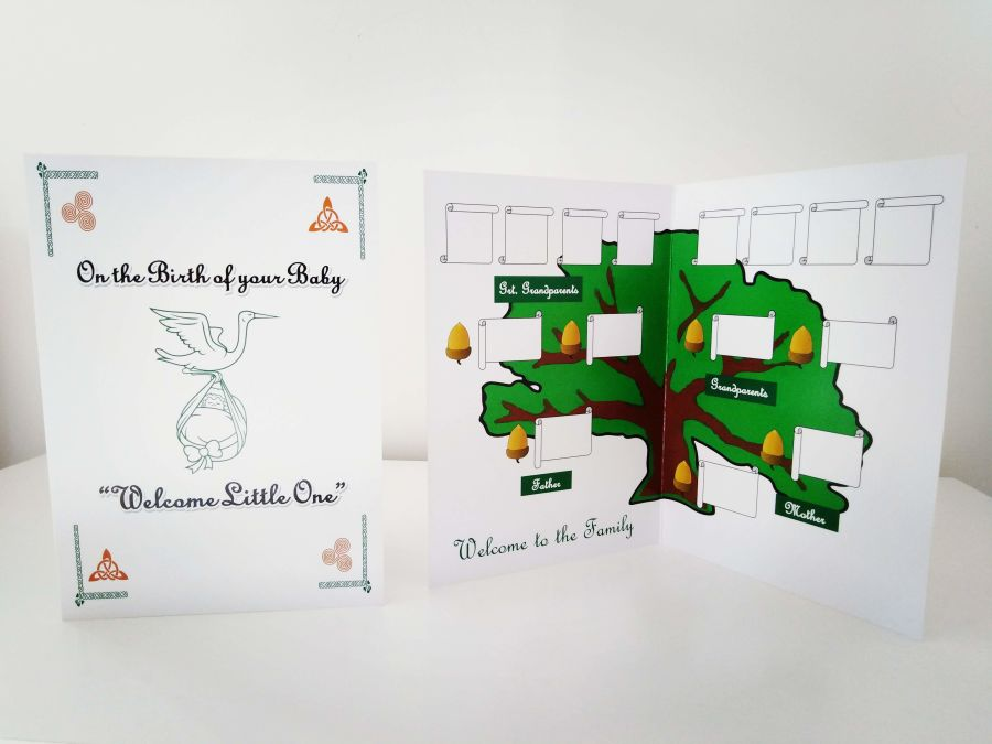 Birth of a Baby  Family Tree Card