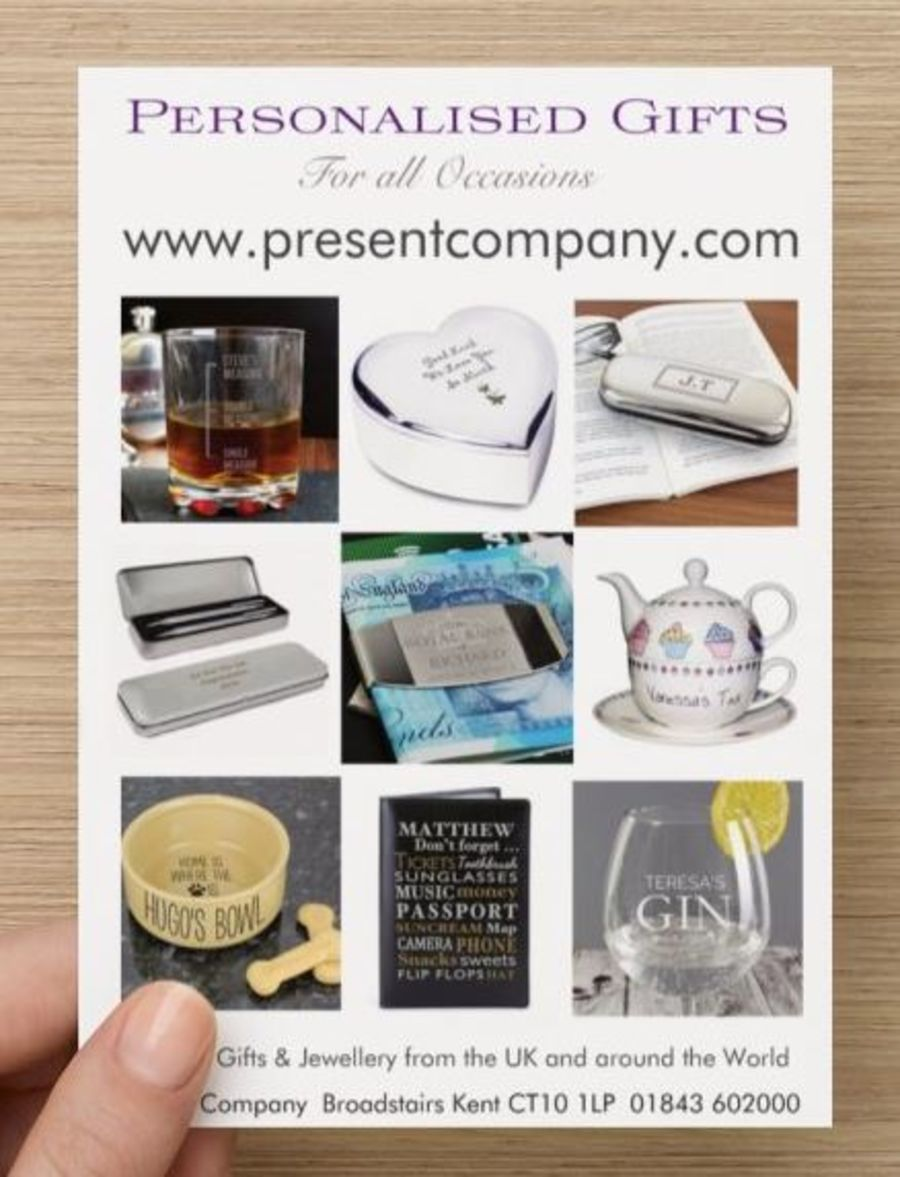 Click Here for Personalised Gifts - Present Company Broadstairs