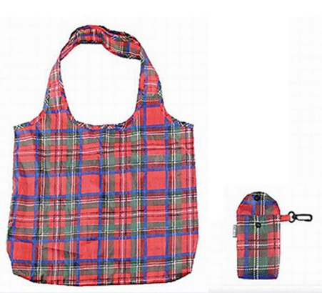Eco Shopping Bag - Red Tartan