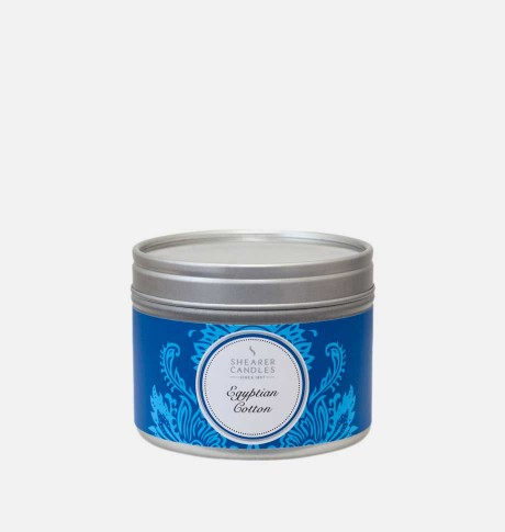 EGYPTIAN COTTON SMALL CANDLE TIN