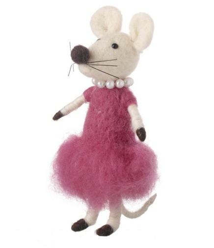 Wool Mouse In Dress