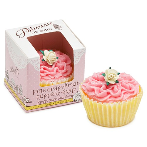 Pink Grapefruit Cupcake Soap