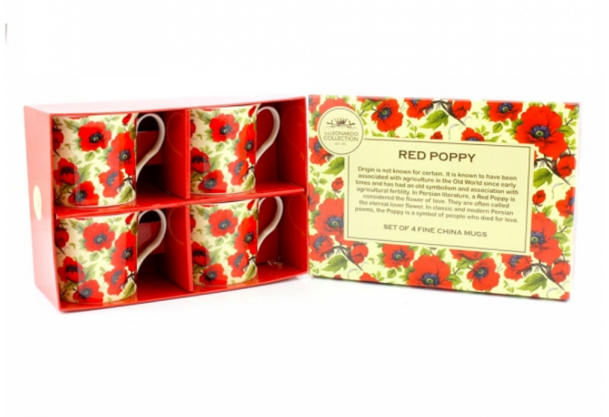 Poppy Mug Set of 4