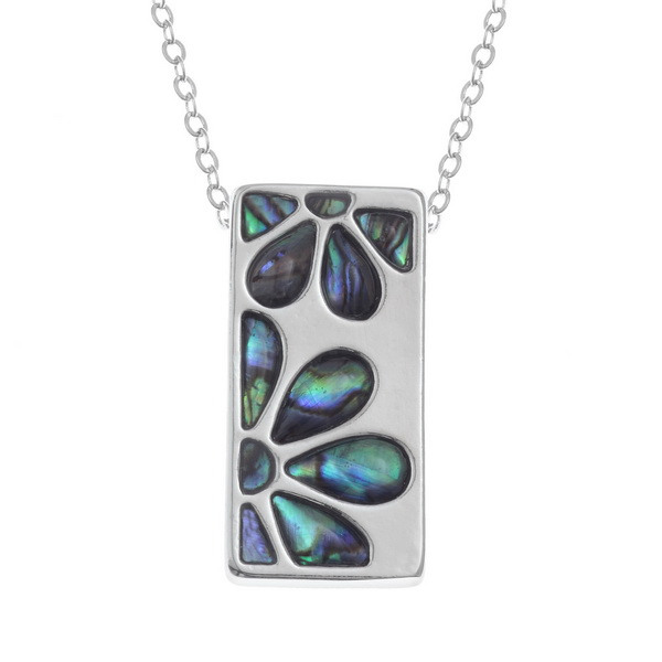 Oblong Floral Necklace