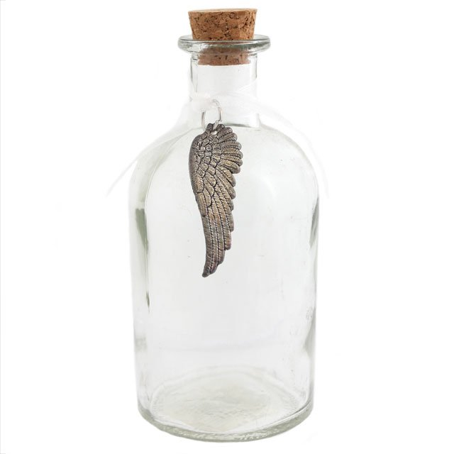 Angel Wing Charm Bottle