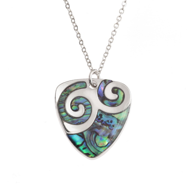 Plectrum Swirl Necklace