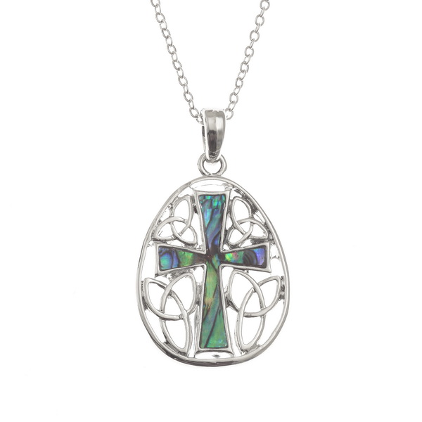 Oval Cross Necklace