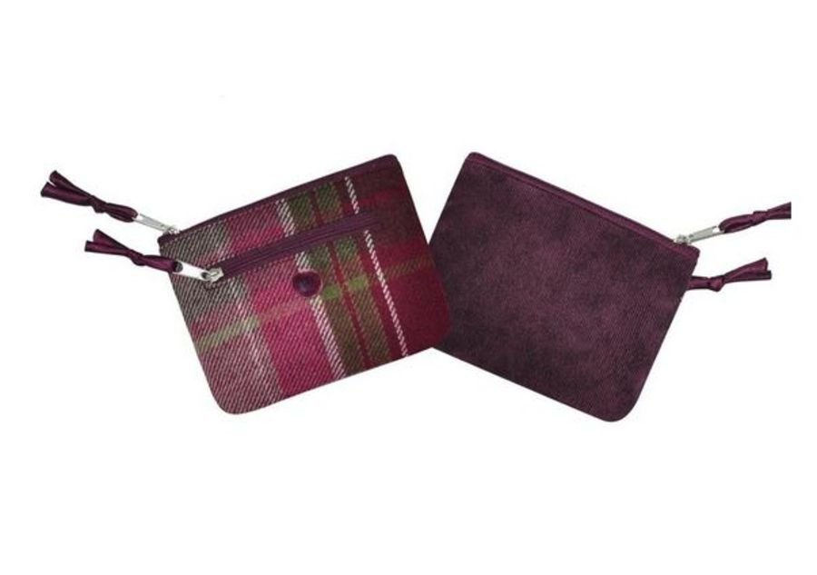 Tweed EMILY Purse PLUM