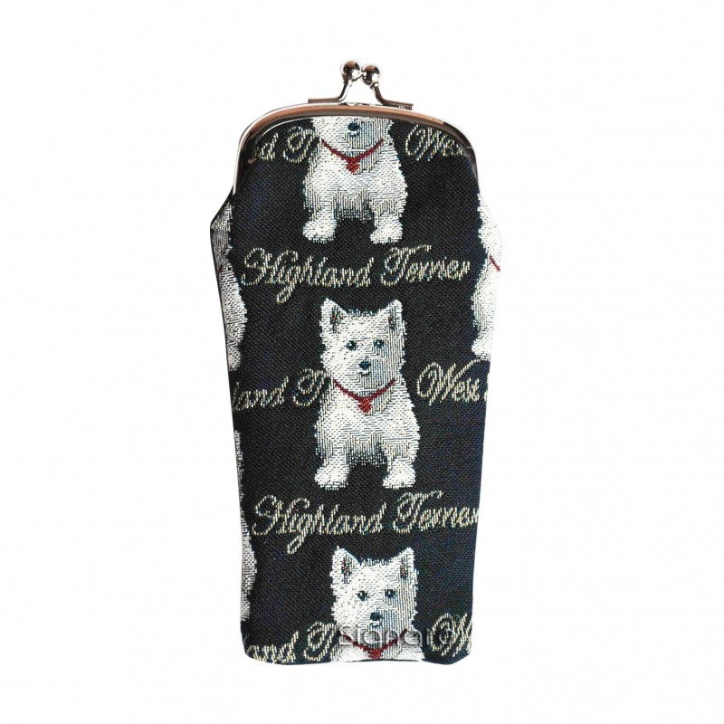 Westie Glasses Pouch by signare