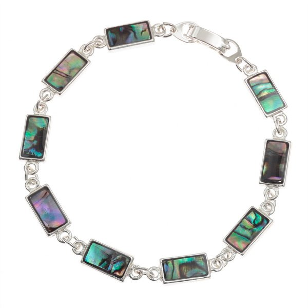 Rectangular Paua Shell Bracelet