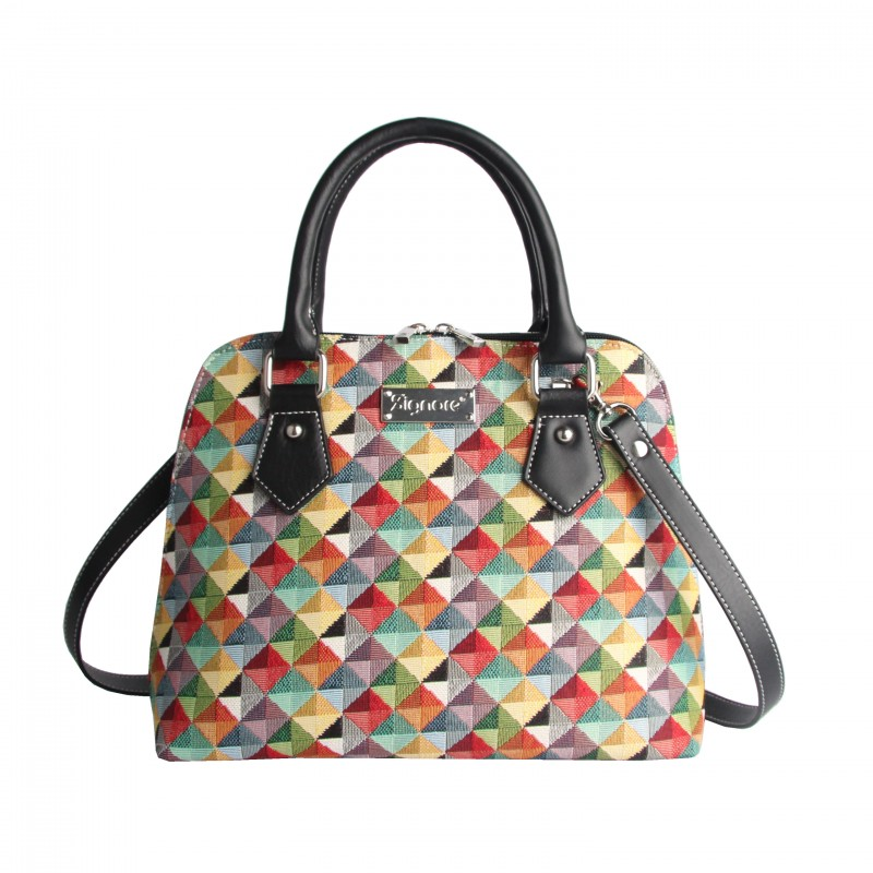 Multi Coloured Triangle Top-Handle Shoulder Bag by Signare