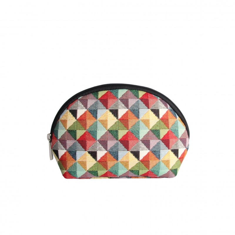 Multi Coloured Triangle Cosmetic Bag by Signare
