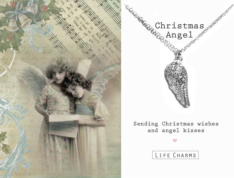 Christmas Angel Wing Necklace