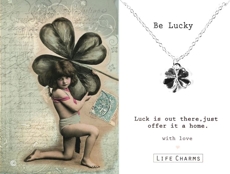 Be Lucky Four Leaf Clover Necklace