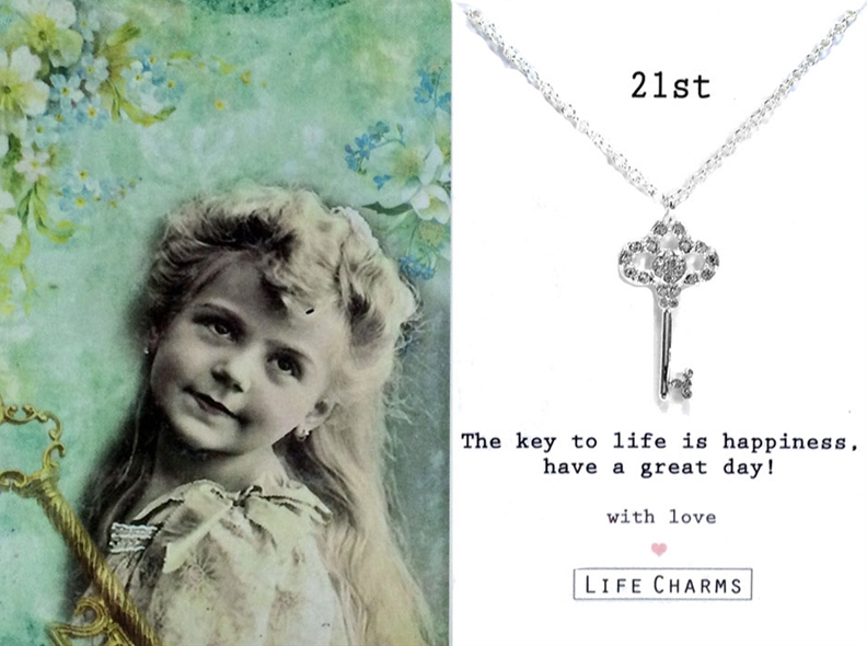21st Key Necklace