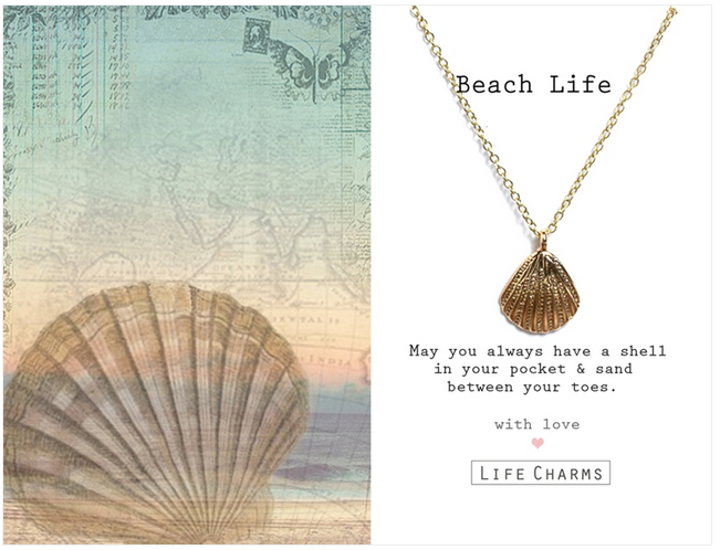 Beach Life Necklace by Life Charms