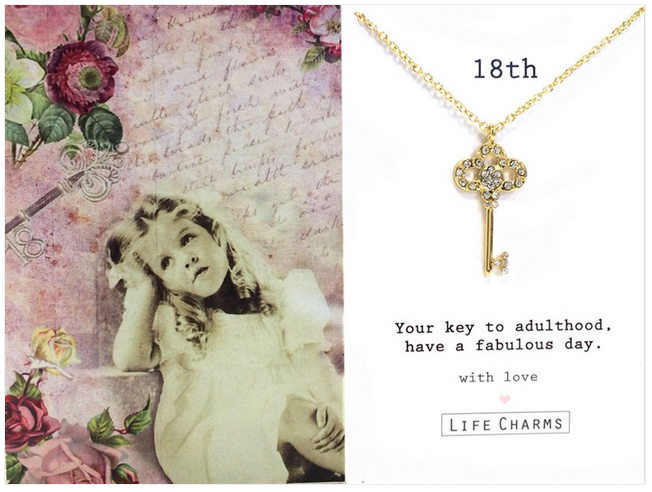 18th Birthday Key Necklace by Life Charms