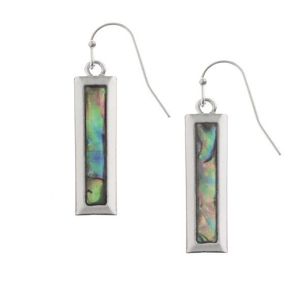 Oblong Paua Shell Earrings
