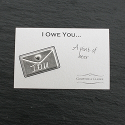 I Owe You - A pint of beer