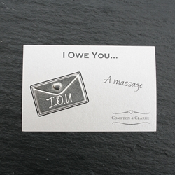 I Owe You - A Massage