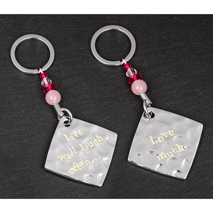 Live well, Laugh often, Love much Keyring