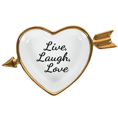 Live Laugh Love Dish