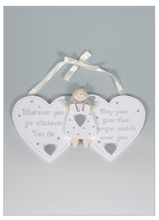 Guardian Angel Hearts Plaque